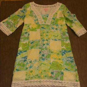 Lilly Pulitzer Linen patchwork dress size medium